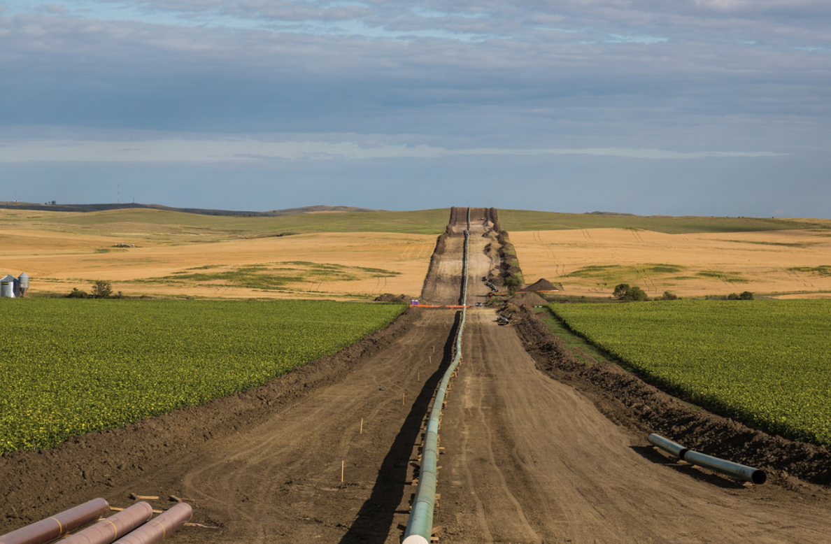 Completed portion of the Dakota Access Pipeline.
